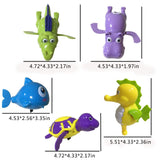 Keklle 5Pcs Wind Up Toys Bath Toys, Bathtub Toys for Toddlers, Clockwork Water Toys Swimming Toys Boys and Girls
