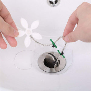 Flower Shape Shower Drain Sink Remover Hair Filter Chain Hook-Catcher Strainer Hair Snare for bathroom, Kitchen, 5-Pack