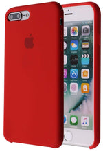 Load image into Gallery viewer, Soft Liquid Silicone iPhone 8 Plus Cover Case Inner Soft Microfiber Cloth Lining Cushion for Apple iPhone 7 Plus/iPhone 8 Plus (Red)