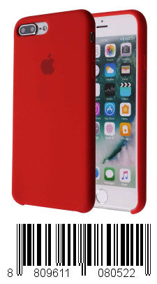 Soft Liquid Silicone iPhone 8 Plus Cover Case Inner Soft Microfiber Cloth Lining Cushion for Apple iPhone 7 Plus/iPhone 8 Plus (Red)