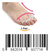 Load image into Gallery viewer, Toe Separators for Bunions Plantar Fasciitis Hammer Toes Yoga Sports Original Gel Toe Stretchers Straightener Spreaders Pads Small Toe Protectors for Men Women Stop Foot Pain