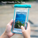 Waterproof Case, 3 Pack Universal Cell Phone Dry Bag Floating Pouch for iPhone 8, 7 Plus, 6s, 6s Plus, 5s, se, Galaxy S8 S7 Edge, Note 4 3, LG G6 G5 G4, HTC One X , Smartphone Devices Up To 6.0