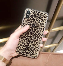 Load image into Gallery viewer, iPhone XR Case,Ebetterr Leopard Print Glitter Sparkle Bling Case Girls Women Slim Fit Anti Scratch PC Hard Back + Flexible Soft TPU Bumper Protective Cover iPhone XR (2018)