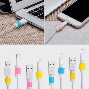 24pcs Keklle Lightning Charger Cable Saver Protector for Apple iPhone Laptop Macbook Charge Cable Saver and Fixer Charge Cable Saver and Fixer.