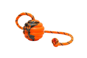 Keklle Durable Natural Rubber Ball on a Rope - Perfect Dog Training, Exercise and Reward Tool - Medium Size Dog Toy for Fetch, Catch, Throw and Tug War Plays – Happy Playtime Guaranteed