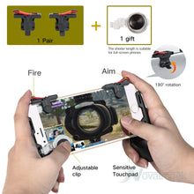 Load image into Gallery viewer, KEKLLE Mobile Game Controller,Game Pad Sensitive Shoot and Aim Keys Joysticks Game Controller for PUBG/Fortnite/Knives Out/Rules of Survival Gaming Triggers for iOS and Android