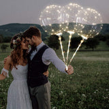 Keklle Reusable LED Light Up Balloons 18 Inch Transparent Bobo Balloon 4 PCS Party and Wedding Balloons Perfect for Decoration Warm White Glowing Balloons