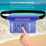 Keklle Waterproof Pouch 2 Pack/3 Pack Waterproof Fanny Pack Waterproof Phone Case Waterproof Wallet Protect Your Valuables Safe & Dry Perfect for Boating Swimming Beach Pool Water Parks