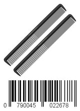 "Load image into Gallery viewer, Styling Comb (2 Pack) - Professional 8.75"" Black Carbon Fiber Anti Static Chemical And Heat Resistant Hair Combs For All Hair Types - By Keklle"