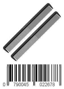 "Styling Comb (2 Pack) - Professional 8.75"" Black Carbon Fiber Anti Static Chemical And Heat Resistant Hair Combs For All Hair Types - By Keklle"