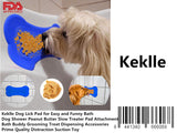 Keklle Dog Lick Pad for Easy and Funny Bath - Dog Shower Peanut Butter Slow Treater Pad Attachment - Bath Buddy Grooming Treat Dispensing Accessories - Prime Quality Distraction Suction Toy
