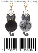 Load image into Gallery viewer, Faux Fur Ball Pom Pom Key Chain Ring for Women Girls Bag Pendant