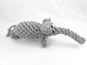 Premium Dog Chew Toy Elephant and Giraffe-All Cotton NON-TOXIC Braided Rope For A Strong Dental Cleaner, Great To Reduce Puppy Boredom and Get Exercise With This Bully Chew Bite Stick for Play and Tug