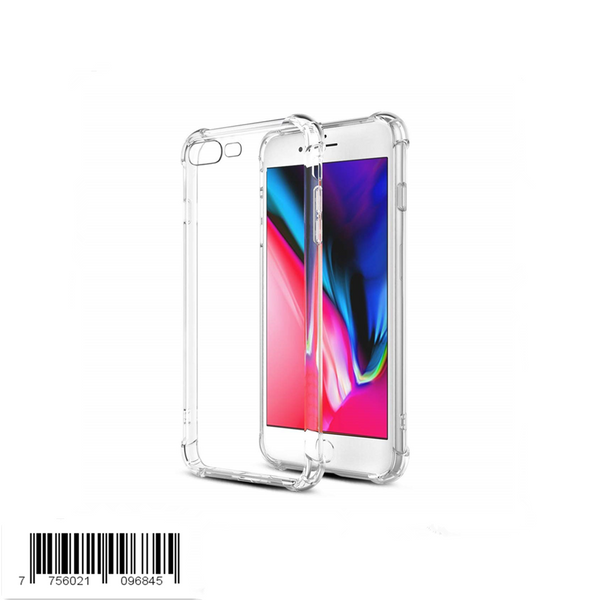 Keklle Phone Case Compatible with iPhone 8 Plus iPhone 7 Plus Cases, Clear Thin Soft TPU Anti Scratch Phone Cover Reinforced Corners Shock Absorption [Support Wireless Charging]