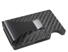 Load image into Gallery viewer, Carbon Fiber Wallet Money Clip by Widely Quality - RFID Blocking - Complete Set with Screwdriver - Minimalist Card Holder Pop Up - Slim wallet - Lightweight and Secure - for Men and Women