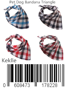 Keklle 4 Piece Pet Dog Bandana Triangle Bibs Scarf Accessories for Dogs, Cats, Pets Animals