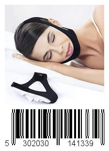 1DOT2 Anti Snoring Chin Straps Adjustabal CPAP Stop snoring Belt Relief Snore Device for Mouth Breathers, for Men and Women (S/M)