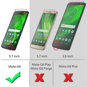 Keklle Moto G6 Case, Moto G (6th Generation) Case, Suensan TPU Shock Absorption Technology Raised Bezels Protective Case Cover for Motorola Moto G6 5.7 Inch (Gray)