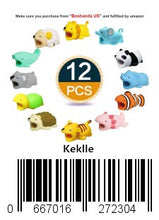 Load image into Gallery viewer, Keklle12 Pieces Cute Animals Cable Bites, Various Animal Cable Bites Cable Accessories Phone Cables Protectors