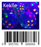 Keklle Blacklight Party Balloons - Clear Balloons with Polka Dots that Glow in the Dark under Blacklight - 25 Pack of 11 inch Clear Latex Balloons with Neon Flourescent Polka Dots
