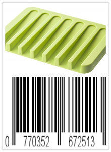 Keklle Flow Silicone Soap Tray, Green