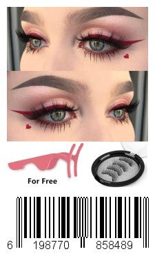 Magnetic Eyelashes,Keklle 3 Magnetic Best Fake Lashes For Natural Look,3D Reusable No Glue Fake Eye Lashes,Hand-Made Extension Soft False Eyelashes(A-1)
