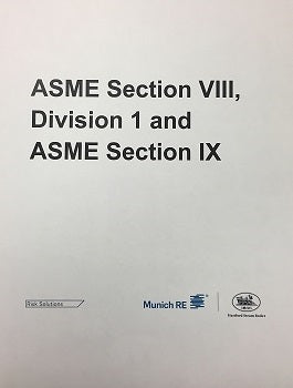 ASME Section VIII, Division I and IX  -  Richmond, VA - Apr 30- May 1 & 2, 2019