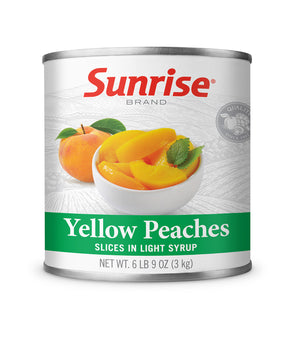 YELLOW PEACHES SLICES IN LIGHT SYRUP