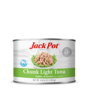 CHUNK LIGHT TUNA TONGOL IN WATER (SALT ADDED)