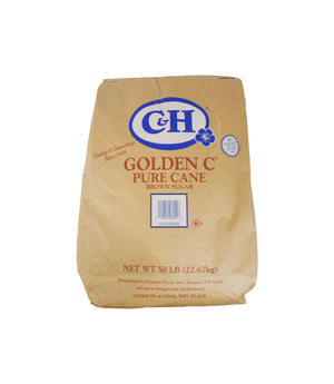 PURE CANE SUGAR, GOLDEN C, MEDIUM BROWN, 1/50 LB