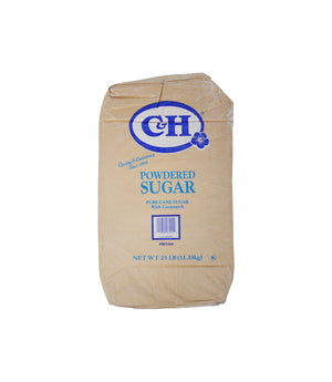 PURE CANE SUGAR, POWDERED, 25 LBS