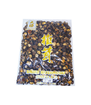 DRIED SHIITAKE MUSHROOMS, 3-4 CM