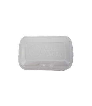 HOAGIE FOAM TRAY, HINGED LID 8 LB