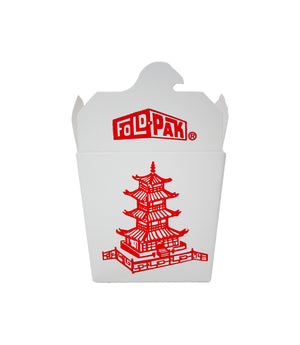 FOOD PAIL, 1 PINT, MICROWAVEABLE, PAGODA PRINT
