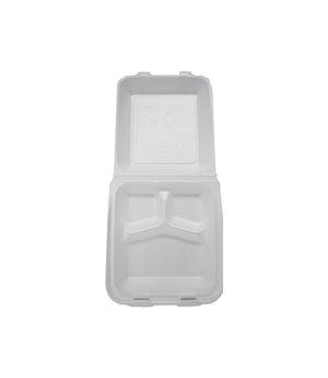 FOAM TRAY, THREE COMPARTMENT, 8 X 8