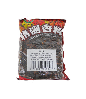 DRIED STAR ANISE, 50/16 OZ