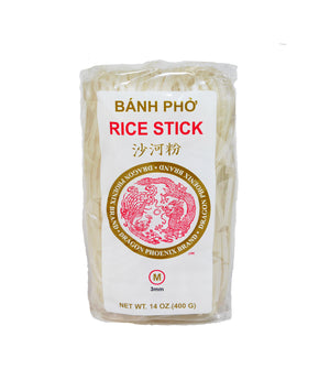 PAD THAI RICE STICK NOODLES, MEDIUM (3MM)