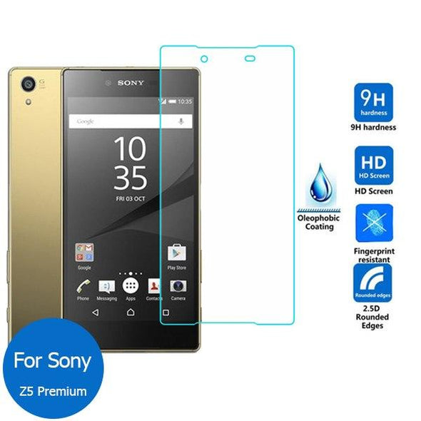 Tempered Glass Screen Protector For Sony Xperia XA Z1 Z2 Z3 Z4 Z5 2Packs
