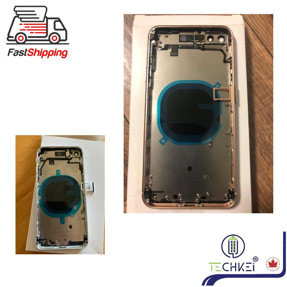 Full Housing Frame With Power Flex Cable Replacement for iPhone 8 8plus New