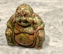 Load image into Gallery viewer, UNAKITE JASPER LAUGHING BUDDHA