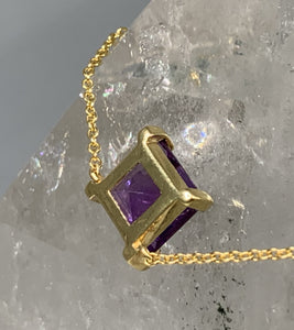 AMETHYST ENERGY STONE COLLARBONE NECKLACE