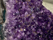 Load image into Gallery viewer, AMETHYST CAVE CLUSTER WITH GEOTHITE INCLUSIONS- URUGUAY