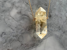 Load image into Gallery viewer, CITRINE DOUBLE TERMINATED PENDANT - LARGE GOLD