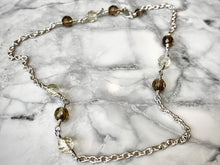 Load image into Gallery viewer, SMOKEY & CITRINE FACETED CHOKER CHAIN