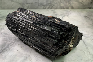 LARGE PIECE BLACK TOURMALINE - RARE SIZE - BRAZIL