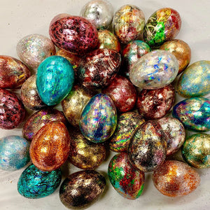 Papier-mâché Easter craft eggs, pack of 6, 2.5""