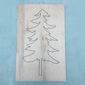 Pine Tree Set (cutout shape & frame)
