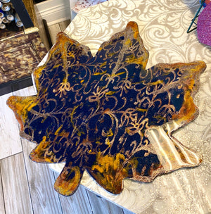 Hand Painted Maple Leaf Wooden Cutout