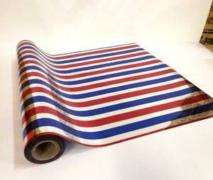 Red/Silver/Blue Striped Foil