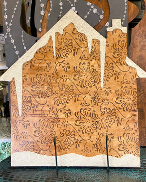 Hand Painted Rustic House Wooden Cutout
